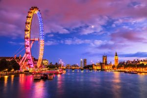 Stock photograph of a London skyline