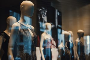 Stock photo of mannequins in a shop window